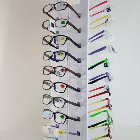 occhiali lettura espositore